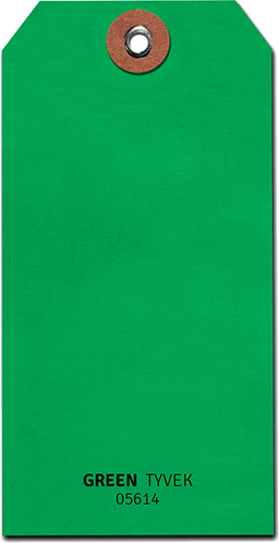 tyvek tag green