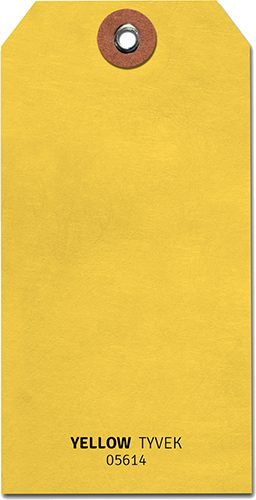 tyvek tag yellow